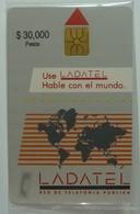MEXICO - Ladatel - TN02 - 1st Issue - Mapamundi - $30,000 - Mint Blister - Rare - Mexico