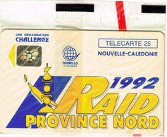 Nouvelle Caledonie Telecarte Phonecard Sport Raid Province Nord Carte 25 Unites NC5 SC5 NSB Neuve - New Caledonia