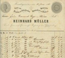 1868 Hornberg, Reinhard Müller Weberei U. Fabrik Rechnung M.Begleitschreiben 4 S. - Germany