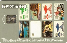 Nouvelle Caledonie Telecarte Phonecard NC10 SC5 Patchwork Collection 25 Unites Ut Used BE 11/93 Numéro Rouge - New Caledonia