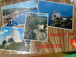 12 CARD TRIESTE  CITTA BARCOLA FARO PORTO DA AEREO   VBN1960/83  GS1705 - Trieste