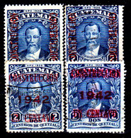 Guatemala-0114a - Emissione 1941-42 (+/o) Hinged/Used - Uno Con Decalco Di Sovrastampa - - Guatemala