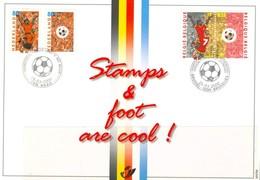 18/6 19/1 Belgique Belgie Emission Commune Avec Pays Bas Nederland 25 03 2000 Football Fdc  2 Scans - Non Classés