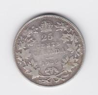 25 Cents Canada 1935  TB à TTB - Canada
