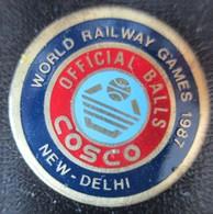 New- Dehli  Basketball COSCO  Railways Games 1987   Pin - Basketball
