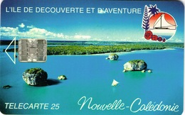 Nouvelle Caledonie Telecarte Phonecard NC19 Baie Upi Ile Pins 25 Unites Ut 9 Numeros Rouges - New Caledonia