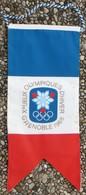 Oriflamme Drapeau Officiel Des X° Jeux Olympiques D'Hiver De Grenoble 1968 Olympic Games 68 - Olympics