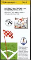 Croatia 2018 / FIFA World Cup Russia, Football / Under The Auspices Of Lev Yashin / Prospectus, Leaflet, Brochure - Croatie