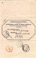 1879- Avis De Réception D'un Objet Charge Ou Recc. Affr. 10 C De LA ROCHELLE  -formulaire 103 Mai 1878 Ecu Rose 112 - 1877-1920: Periodo Semi Moderno