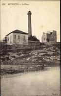 Cp Beirut Beyrouth Libanon, Le Phare, Leuchtturm Und Gebäude - Inde