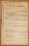 Voitures Allégées – Notice à Coller à La Fin Du Manuel Du Mécanicien – 2ème Volume – Frein à Air Comprimé - Railway & Tramway