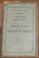 Instruction Générale Pour La Sécurité Du Travail – Chemins De Fer De L'Etat - Railway & Tramway