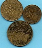 (r65)  CAMEROUN / 5 + 10 + 25 Francs 1958 AEF / AFRIQUE EQUATORIALE FRANCAISE - Cameroon