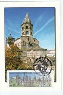 Carte Maximum CLERMONT FERRANT église Romane - Lisa 2004- - 2000-09