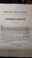 PONTIFICIO Ministero Delle Finanze Notificazione Roma 25 Aprile 1851 ( Boni Provincia Di Bologna ) Doc.278 - Italy