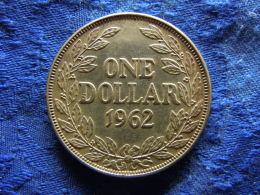 LIBERIA 1 DOLLAR 1962, KM18 Stain - Liberia