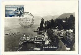 Carte Maximum  EVIAN Les BAINS En  1957 - Cartoline Maximum