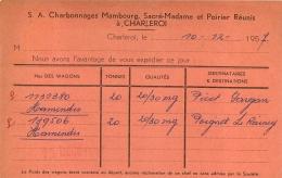 CHARLEROI CHARBONNAGES MAMBOURG SACRE MADAME ET POIRIER REUNIS 1957 - Charleroi