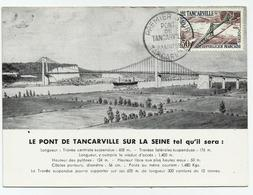 Carte Maximum PONT De TANCARVILLE Sur La Seine En 1959 - Maximum Cards