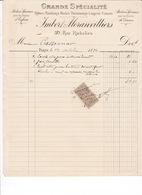 2 Factures (une Timbrée) Vêtements Femmes Enfants Corsets Lingerie Imbert-Moranvilliers, 30 Rue Richelieu, Paris, 1894 - France