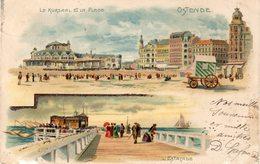 OSTENDE  -  LE KURSAAL ET LA PLAGE  -  L'ESTACADE - Oostende