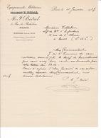 Lot De 5 Doc. Commerciaux Equipements Militaires, Harnachements, Maison E. Bidal, 3 Rue De Richelieu, Paris, 1908-1927 - Altri