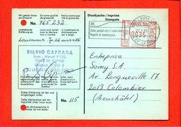 """SUISSE, Carte Postale """"déclaration Grossiste"""", De Lausanne Pour Colombier, Flamme """"SAL Colis Pour L'etranger Rapide...."""" - Cartas"""