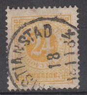 ZWEDEN - Michel - 1872 - Nr 23B (T/D 13:13 1/2) - Gest/Obl/Us - Cote 28.00 € - Suède