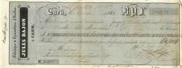 Lettre De Change, Jules Dajon à Caen, 1842, Voir Cachets Et Timbres à Sec, Nantes Maison Chabosseau Chalot - Lettres De Change