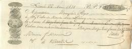 Lettre De Change, Lorient ( Voir Lithographie, Duroy ? ), 1831, Voir Cachets Et Timbres à Sec, Nantes MaisonMarion - Cambiali