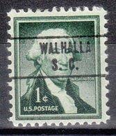 USA Precancel Vorausentwertung Preo, Locals South Carolina, Walhalla 748 - Vorausentwertungen