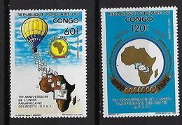 "Congo Aerien YT 405 & 406 (PA) "" Union Des Postes "" 1991 Neuf** - Congo - Brazzaville"