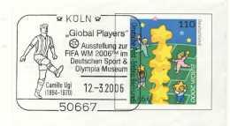 824  Jeux Olympiques De 1912 Stockholm: Oblit. Camillo Ugi - Football Player Special Cancel. FIFA World Cup 2006 - Sommer 1912: Stockholm