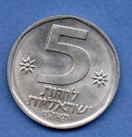 Israel  -  5 Lirot  -  Km # 90    -état  SUP - Israel