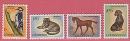 1961 ** (sans Charn., MNH, Postfrisch)  Yv  595/8Mi  637/40 - Luxembourg