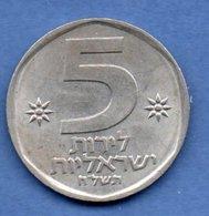 Israel  -  5 Lirot  -  Km # 90    -état TTB+ - Israël