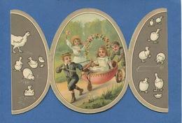 Au Bon Marché Belle Chromo Système Oeuf Pâques Chariot Enfant Lith. Sirven SIR-14, Au Bon Marché System Card, Easter Egg - Au Bon Marché
