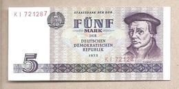 DDR - Banconota Circolata Da 5 Marchi P-27a - 1975 - [ 6] 1949-1990 : RDA - Rep. Dem. Alemana
