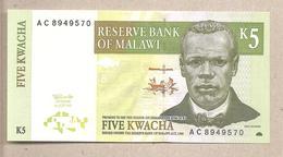 Malawi - Banconota Non Circolata FdS Da 5 Kwacha P-36a - 1997 - Malawi