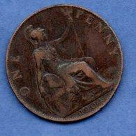 Grande Bretagne -  1 Penny 1904  -  Km # 794.2    - état TB - 1902-1971 : Monnaies Post-Victoriennes