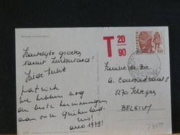 77/697 CP POUR LA BELG.  TAXE - Switzerland