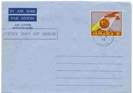Jamaique Aérogramme FDC 1973 Aerogram Air Letter Entier Entero Ganzsache Lettre Carta Belege Airmail Cover - Jamaica (1962-...)