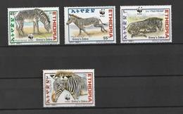 Ethiopia 2001, WWF/Zebra 4v Mnh - Etiopía