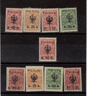 Russie -   Surchargé Pologne ( 1918 ) Série 12/19 - Russie & URSS