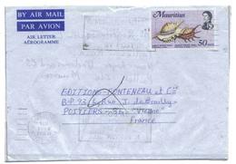 Maurice Aérogramme Port Louis 1976 Aerogram Air Letter Entier Entero Ganzsache Lettre Carta Belege Airmail Cover - Maurice (1968-...)