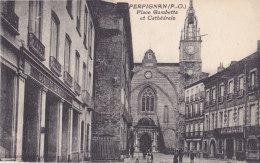 Perpignan (66) - Place Gambetta Et Cathédrale - Perpignan