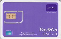 BELGIQUE -  GSM & SIM ***  PROXIMUS - PAY&GO *** - Belgium