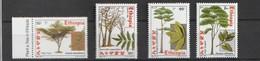 Ethiopia 2002, Trees 4v Mnh - Etiopía
