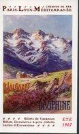 Lautaret Et Dauphiné (38 Isère)  CHEMINS DE FER PLM été 1907 (PPP8810) - Tourism Brochures