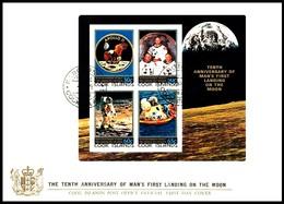 Cookinseln / Cook Islands: 'Apollo-11 In Space, 1979', Mi. BL 92; Yv. BF 92; Sc. 535a FDC - FDC & Commemoratives
